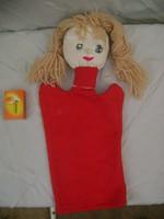 Retro kislány kesztyűbáb