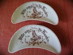 Antik csontos tányér párban