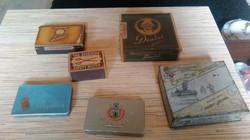 Antik dohány szivarkás dobozok.