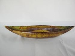 Retro kerámia csónak tál ikebana váza