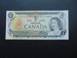 Kanada 1 dollár 1973 Hajtatlan nagyon szép bankjegy