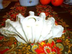 Hollóházi porcelán kagyló tál