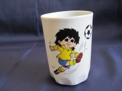 Zsolnay foci pohár porcelán focis bögre