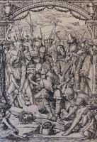 """Fenomenális - XIX. századi! ifjabb Hans HOLBEIN: """"La Mise en croix"""" - A keresztre feszítés"""