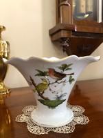 Herendi porcelán  Rotschild mintás hullámos szélű kehelyváza gyönyörű állapotban