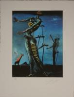 Salvador Dali: Égő zsiráf