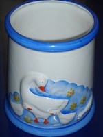 Libás kerámia edény,váza