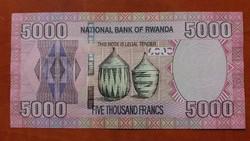 Ruanda 5000 Francs UNC 2014