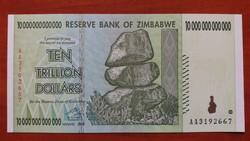 Zimbabwe 10 trillió (10.000.000.000.000) Dollar UNC 2008