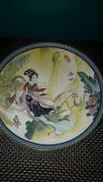 Japan xviii. Century antique porcelain plate richly decorated 21,5cm