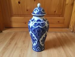Wallendorfi német echt kobalt porcelán váza 32cm