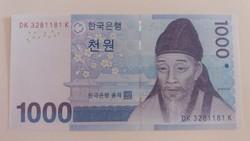 Dél-Korea 1000 Won UNC 2007