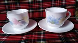 Arcopal France kávés csésze és tálka szett 2db (tejüveg)