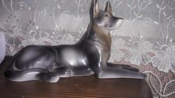 Hollóházi kutya figura 20x12cm