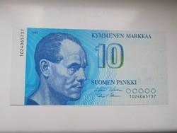 Finnország 10 markaa 1986 UNC Ritka!