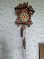 Gyönyörű nagy fatokos kakukkos óra