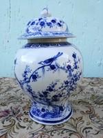 Antik Keleti váza, máz alatti dús festéssel.