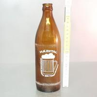 """""""Háziital, Kereskedelemben nem forgalmazható"""" festett barna sörösüveg (713)"""