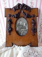 Antik barokk fa fotó keret