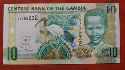 Gambia 10 Dalasis UNC 2013