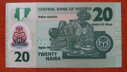 Nigéria 20 Naira UNC 2018
