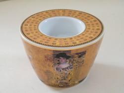 Gustav Klimt Goebel aranyozott díszítésű porcelán mécsestartó