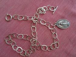 Régi ezüst zsebóra lánc