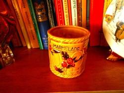 Szecessziós majolika pohár