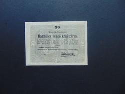 30 krajcár 1849 Kossuth bankó Szép bankjegy !  01
