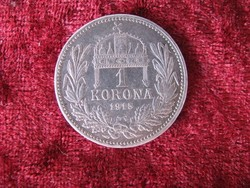 Ezüst 1 korona 1915. Ferenc József