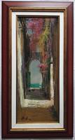 """Adilov Alim """"Kijárat a tengerhez"""" című olajfestmény szép keretben ingyenes házhoz szállítással"""