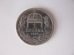 Ezüst 1 korona 1914. Ferenc József
