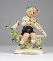0X072 Régi német porcelán kisfiú figura