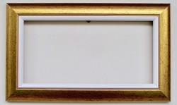 20x40 cm keret arany + fehér betét vászonhoz is alkalmas