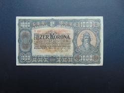 1000 korona 1923 B 66 Nyomdahely nélkül