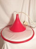 Retro szarvasi piros csíkos lámpa