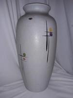 Mid Century hatalmas modernista BAY Keramik kerámia  jelzett padló váza fél méter !