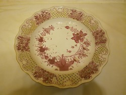 40 cm-es Herendi Indiai kosármintás fali tál, tányér