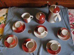 Hollóházi kávés készlet  17.db-os