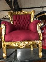 Aranyozott barokk gyerek fotel kis méretű