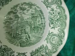Angol jelenetes, porcelán tányér.