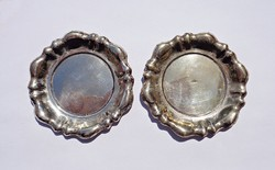 2 db. ezüst tálka