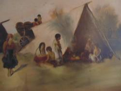 Kisjenői Klein Ernő - Életkép c. festménye