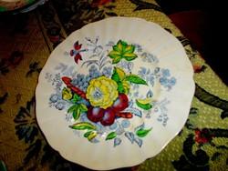 Angol porcelánfajansz   tányér  24 cm