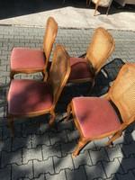 Warrings chippendél  étkezőasztal 4 székkel