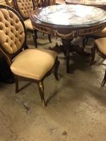 4személyes Köralakú empire asztal székekkel