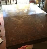 Neobarokk étkezőasztal székekkel, tálalóval