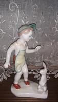 Kisfiú aquincum porcelán figura hibátlan