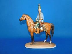 Herendi Hadik Huszár lovon MCD festéssel Mester festő szignóval