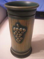 U14 Pannonhalma Jelzett terrakotta vázája 25 cm
